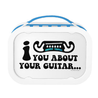 I Mustache You About Your Guitar Lunch Boxes