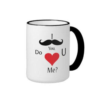 I Mustache You Do U Heart Me? Coffee Mug