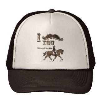 I mustache you equestrian hat
