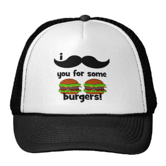 I mustache you for some burgers! cap