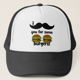 I mustache you for some burgers! trucker hat