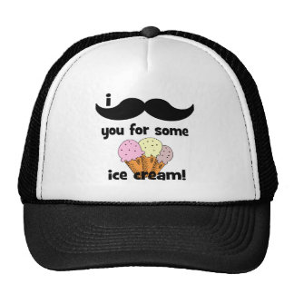 I mustache you for some ice cream trucker hat