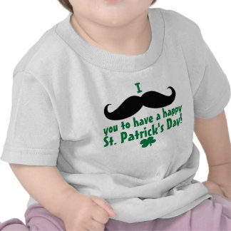 I Mustache You Happy St. Patrick's Day Baby T-shirt
