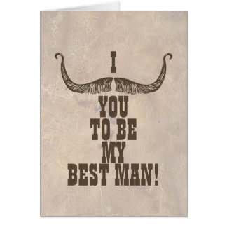 I Mustache You To Be My Best Man Note Card
