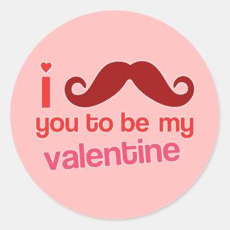 i mustache you to be my valentine sticker