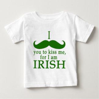 I Mustache You to Kiss Me I'm Irish! Baby T-Shirt