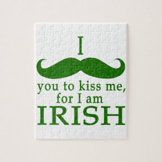 I Mustache You to Kiss Me I'm Irish! Puzzles