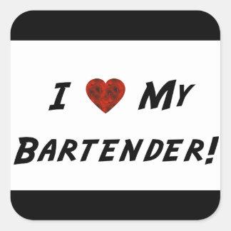 I ♥ My Bartender! Sticker