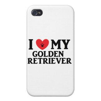 I ♥ My Golden Retriever iPhone 4 Cases