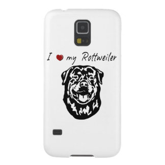 I ❤ my  Rottweiler words & lovely graphic! Cases For Galaxy S5