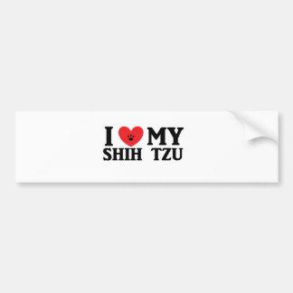 I ♥ My Shih Tzu Bumper Stickers