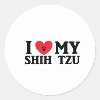 I ♥ My Shih Tzu Classic Round Sticker