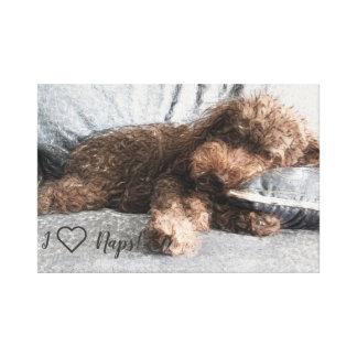 I ❤️ Naps Poodle Canvas Print