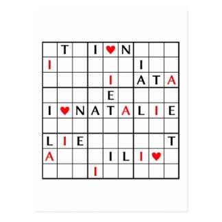 I♥NATALIE POST CARDS