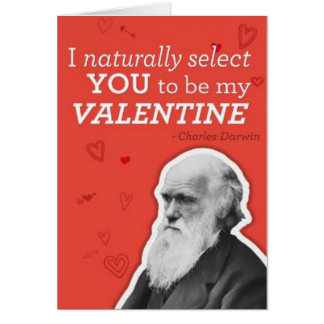 I Naturally Select You to be My Valentine Greeting Card