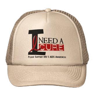 I NEED A CURE 1 HIV & AIDS T-Shirts Trucker Hat