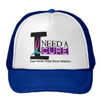 I NEED A CURE 1 THYROID DISEASE T-Shirts Cap