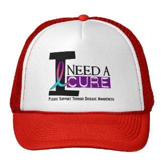I NEED A CURE 1 THYROID DISEASE T-Shirts Mesh Hat