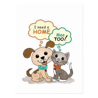 I need a home ... (BowWow & MeeYow) Postcard