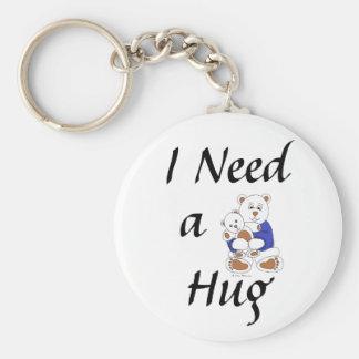 I Need a Hug Basic Round Button Key Ring