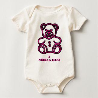 I Need A Hug Bear Magenta The MUSEUM Zazzle Gifts Baby Bodysuit