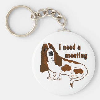I Need a Meeting Basic Round Button Key Ring