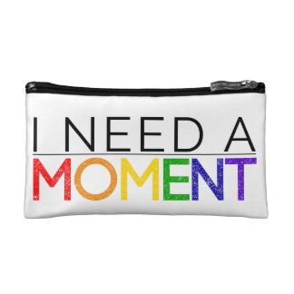 I NEED A MOMENT small cosmetic bag