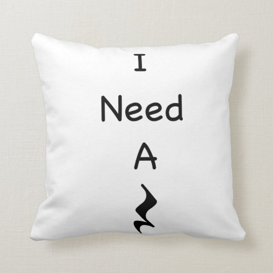 """I Need A Rest Music Throw Pillow 16"""""""