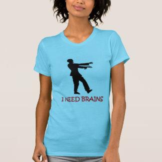 I need brains funny joke zombie t-shirt