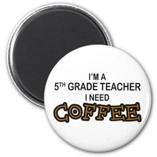 I Need Coffee - 5th Grade 6 Cm Round Magnet