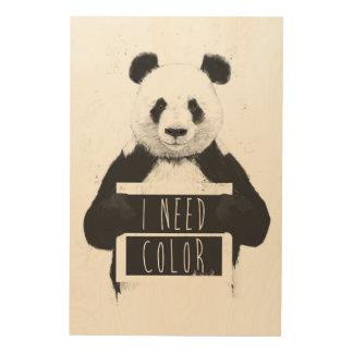 I need color wood print