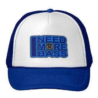I NEED MORE BASS blue Dubstep-dnb-Club-Djay Cap