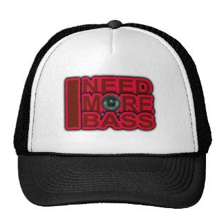 I NEED MORE BASS-Dubstep-DnB-DJ-Hip Hop-Club Mesh Hats