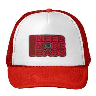 I NEED MORE BASS-Dubstep-DnB-DJ-Hip Hop-Club Mesh Hat