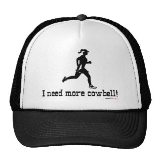 I need more cowbell - Woman Running Trucker Hat