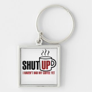 I need my Coffee Silver-Colored Square Key Ring