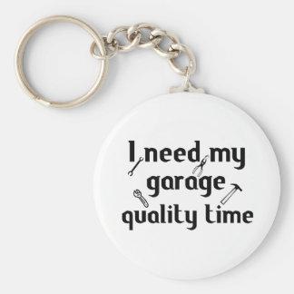 I need my garage quality time basic round button key ring
