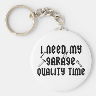 I need my garage quality time basic round button key ring