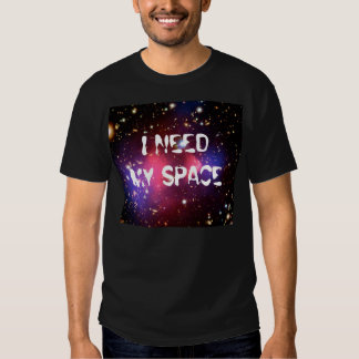 I Need My Space Men's Black T-Shirts