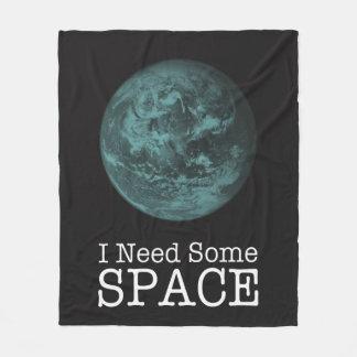 I Need Some Space Fleece Blanket