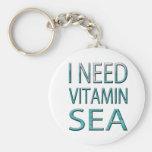 I NEED VITAMIN SEA BASIC ROUND BUTTON KEY RING