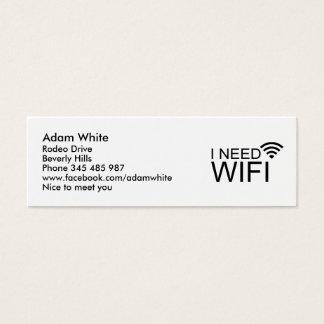 I need wifi internet mini business card