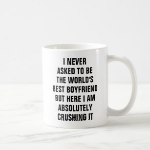 Luckiest Guy in the World Mug Funny Coffee Cup Boyfriend