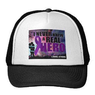 I never knew a Real hero until my wife became one Trucker Hats