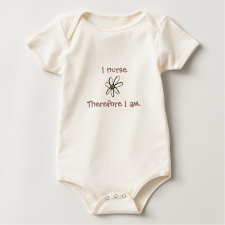 I nurseTherefore I am. Baby Bodysuit