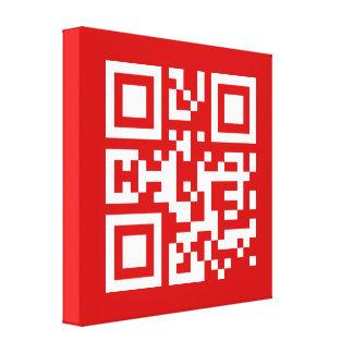 I❤NY -- QR Code Stretched Canvas Print