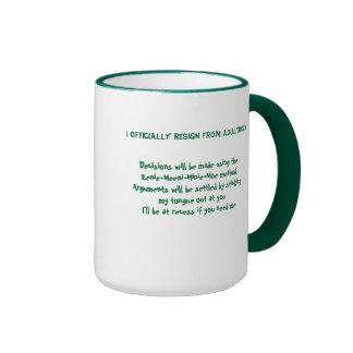 I Officially Resign From Adulthood Ringer Mug