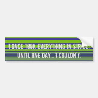 I once.... bumper sticker
