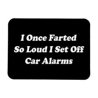 I Once Farted So Loud I Set Off Car Alarms Rectangular Photo Magnet