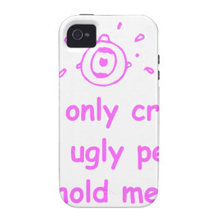 I-only-cry-when-ugly-people-hold-me-com-pink.png iPhone 4/4S Covers
